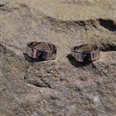 (GR14) Gold personalised Runic Ring