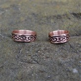 (GR13) Rose Gold Celtic Incised Ring