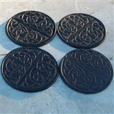 (LC01) Black Celtic Leather Coasters