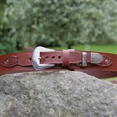 (HSB4) Western Hand-stitched Leather Belt