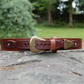 (HSB2) Western Hand-stitched Leather Belt