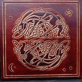 (CLP2) Celtic Hares Leather Wall Plaque