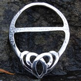 (SCB8) Pewter Celtic Scarf Ring