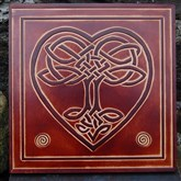 (CLP1) Celtic Tree of Life Leather Wall Plaque