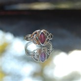 (G31) Gold Celtic & Ruby Ring