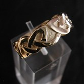 (GR4) Gold Thick Knotwork Celtic RIng