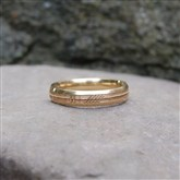 (GR20) Gold Lazer-engraved Ogham Ring