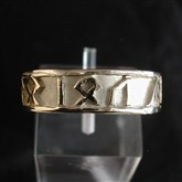 (GR6) Gold Runic Ring