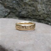 (GR19) Solid Gold Rustic Ring