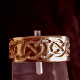 (GR9) Gold Celtic Incised Ring