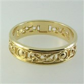 (GR24) Gold Filigree Iona Ring