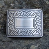 (KB25) Celtic Border Kilt Buckle