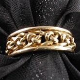 (GR11) Original Gold Celtic Rope Ring