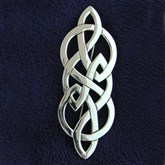 (SCB5) Large Silver Celtic Brooch