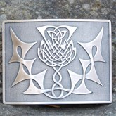 (KB17) Celtic Thistle Kilt Buckle