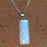 (MP6) Rectangle Moonstone Pendant