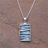 (ICP9) Rectangular Ice Pendant