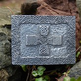 (KB05) Pewter Shaped Celtic Cross Kilt Buckle