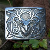 (KB02) Shiny Stag Kilt Buckle