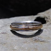 (STR13) Silver & Gold Spinning Ring