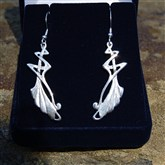 (SELV1) Silver Elvish Earrings