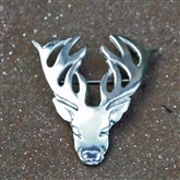 (SCB003) Pewter Celtic Stag Brooch