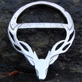 (SCB002) Pewter Stag Scarf Ring