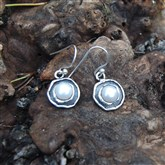 (OXS3) Oxidised Silver & Pearl Earrings