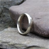(STR7) Plain Silver Ring