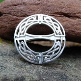 (SCB0001) Silver Celtic Scarf Ring or Brooch