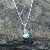 (LTP1)Tear Drop Topaz Pendant