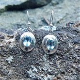 (TE1) Topaz Silver Earrings