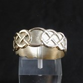 (GR2) Wide Gold Celtic Ring